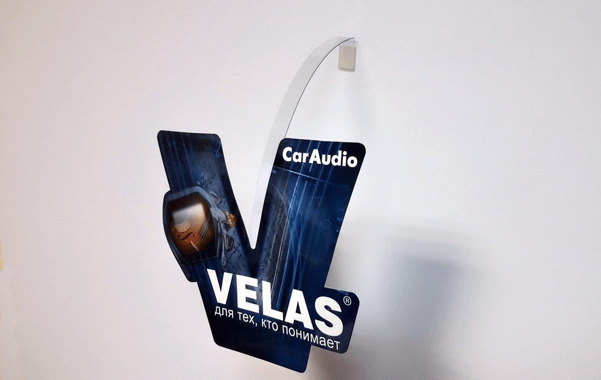Рекламный воблер формата А6, печать офсетная, картон однотосронний 250 гр.м2, двухсторонний глянцевая ламинация, вырубка, приклейка прозрачной пластиковой ножки.